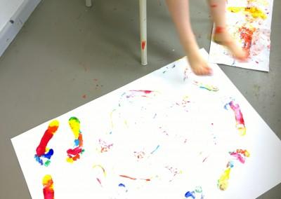 farbige Spuren