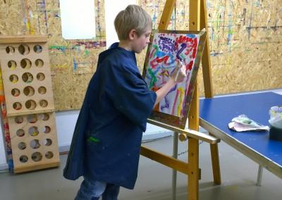 Konzentration beim Malen